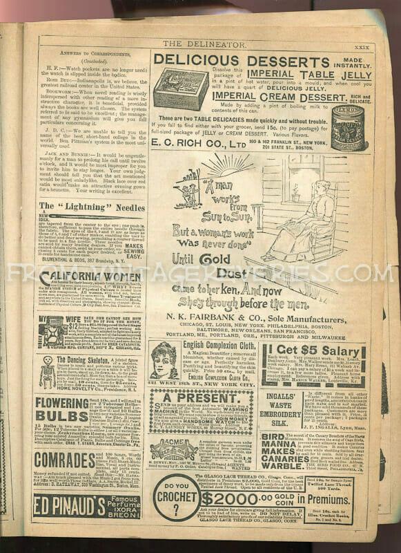 victorian advertisement illustrations