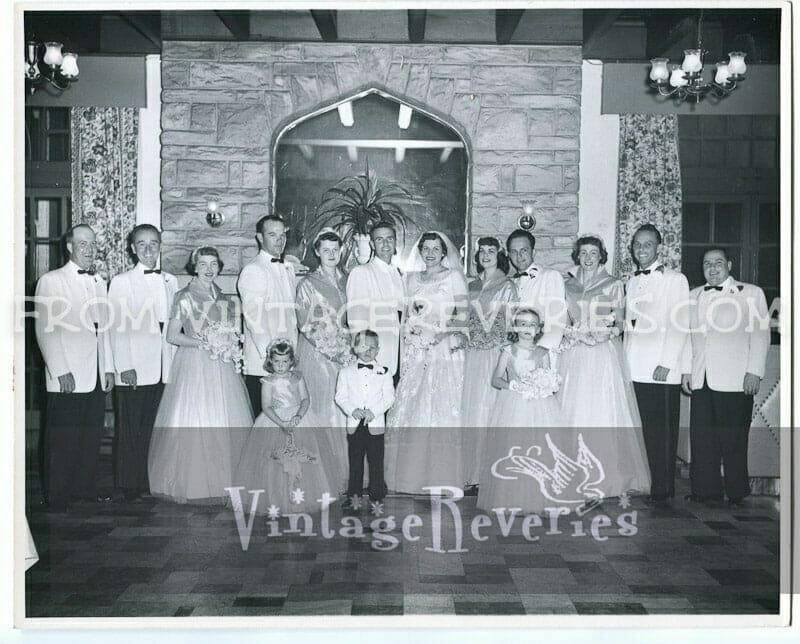 1950s wedding photo