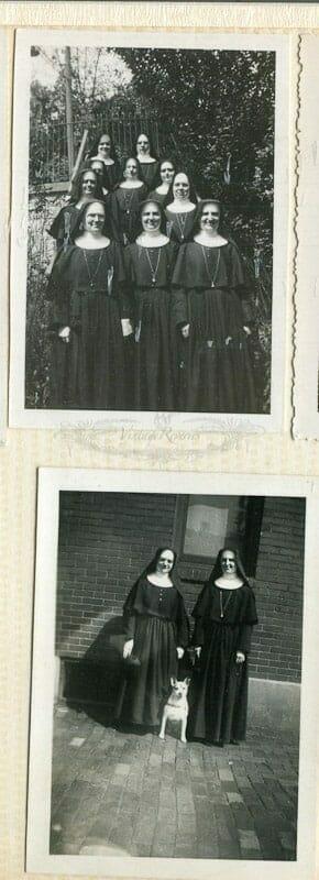 nuns with a dog