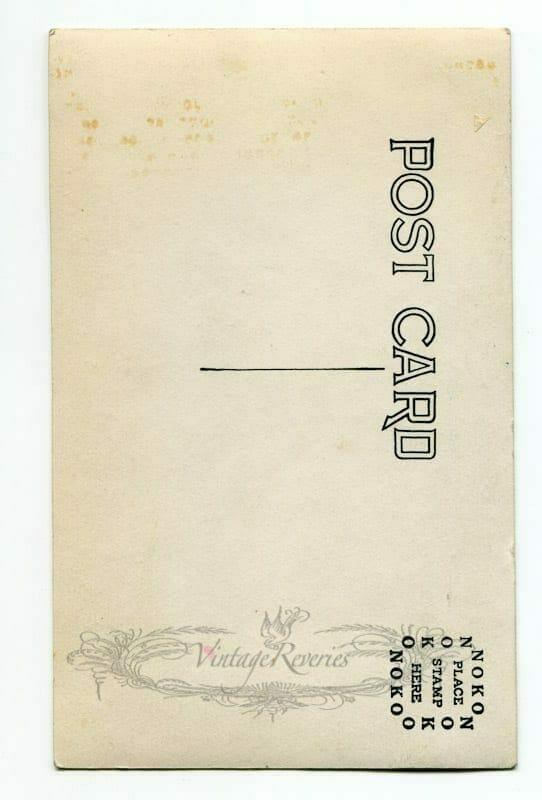 blank vintage post card scan