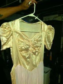 old dress mending and restoration