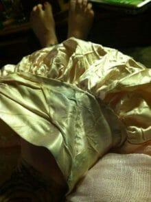 old dress mending