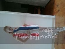 vintage red white and blue linen mini dress
