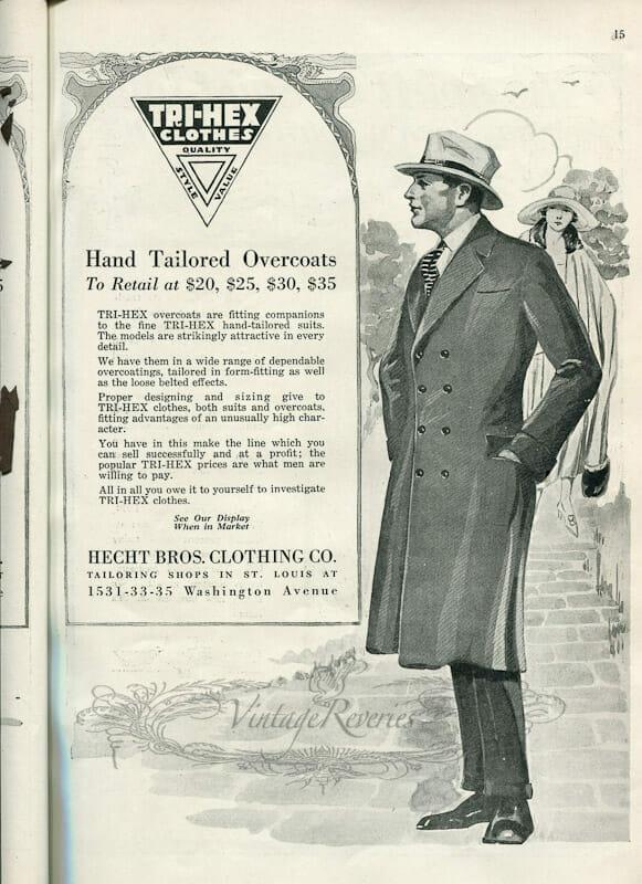1920s mens coat fashion illustration