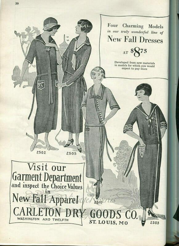 1924 Fashion Illustrations – dresses and hats