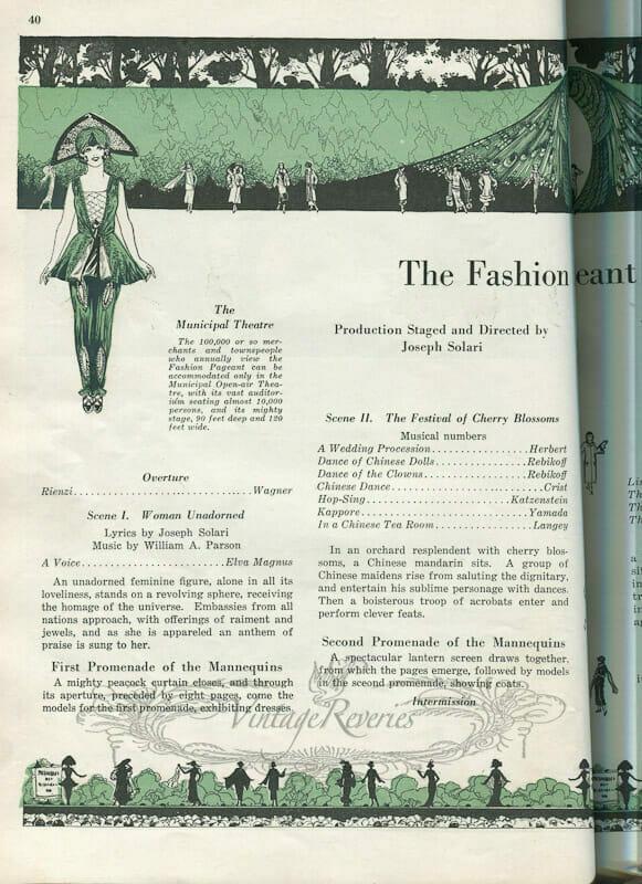 St. Louis fashion show agenda