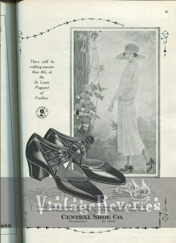 1920s shoe fashion illustration