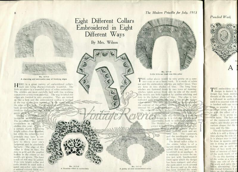 edwardian collar designs
