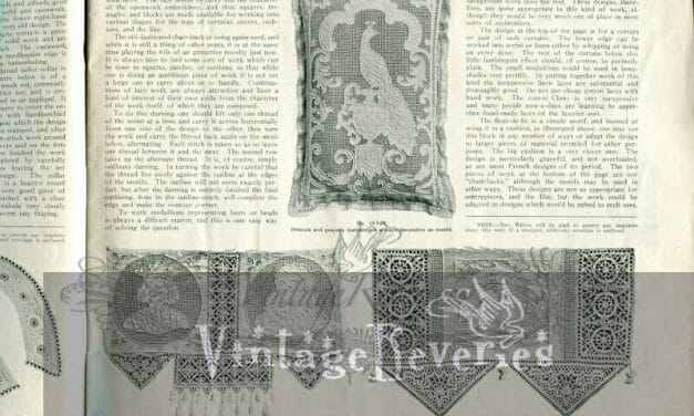 Punched work darning designs, and Eight different collar designs