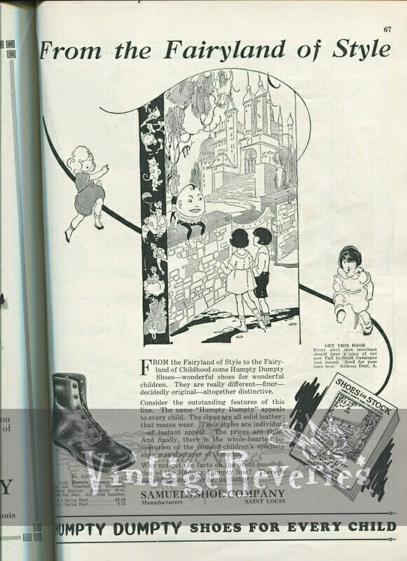 1920s childrens shoes advertisements