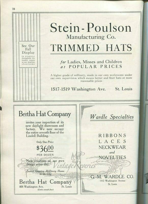 St. Louis fashion advertisements 1920s
