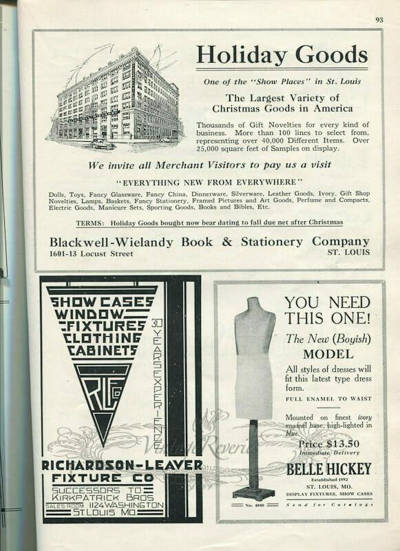 1920s dress form advertisement