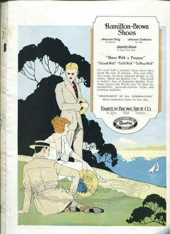 Hamilton-Brown Shoes fashions 1924 Advertisement