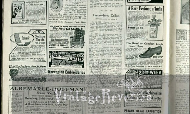 Early 1900s advertisements and housekeeping advice