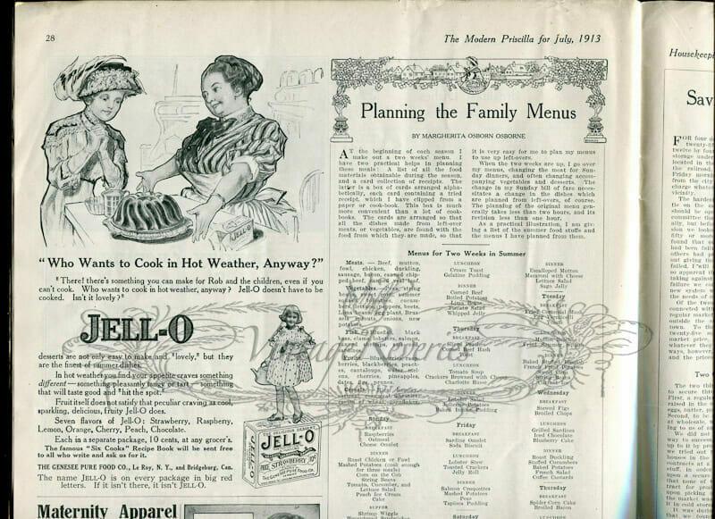 Jello advertisement early 1900s