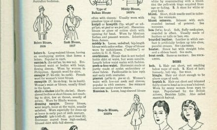 The Language of Fashion: Fashion Dictionary scans Blouses thru Caps