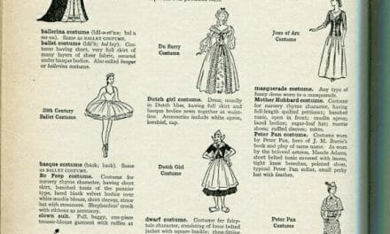 Different types of fancy dress and other pages from the Language of Fashion