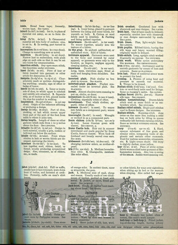 fashion dictionary online