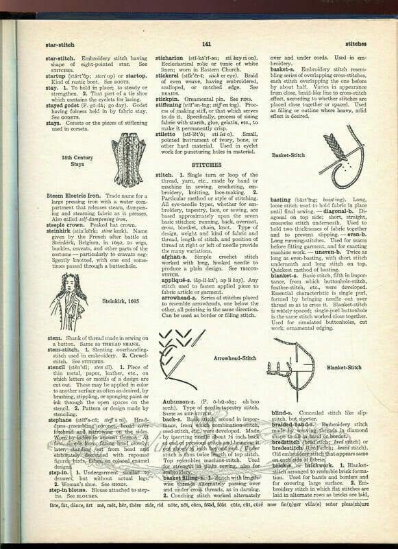 types of dressmaking needlework