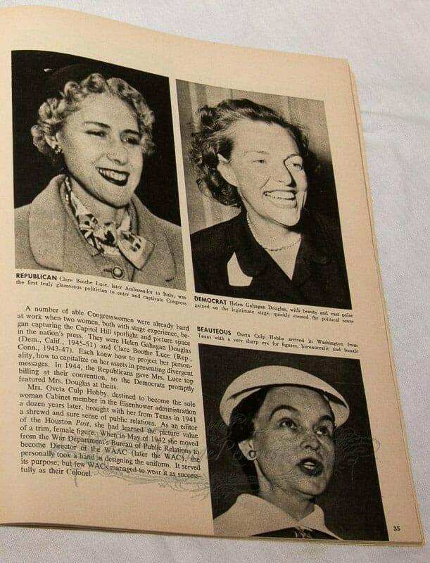 1950s female politicians