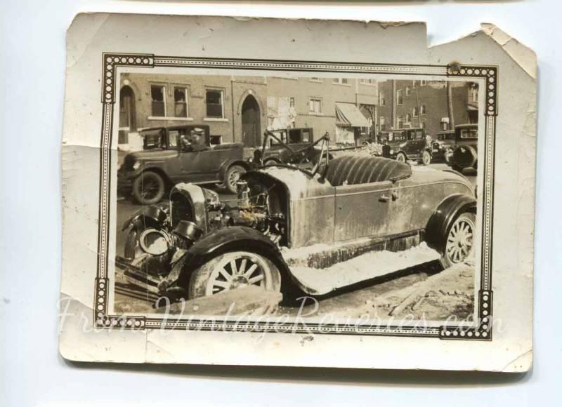 damaged car 1927 St. Louis tornado