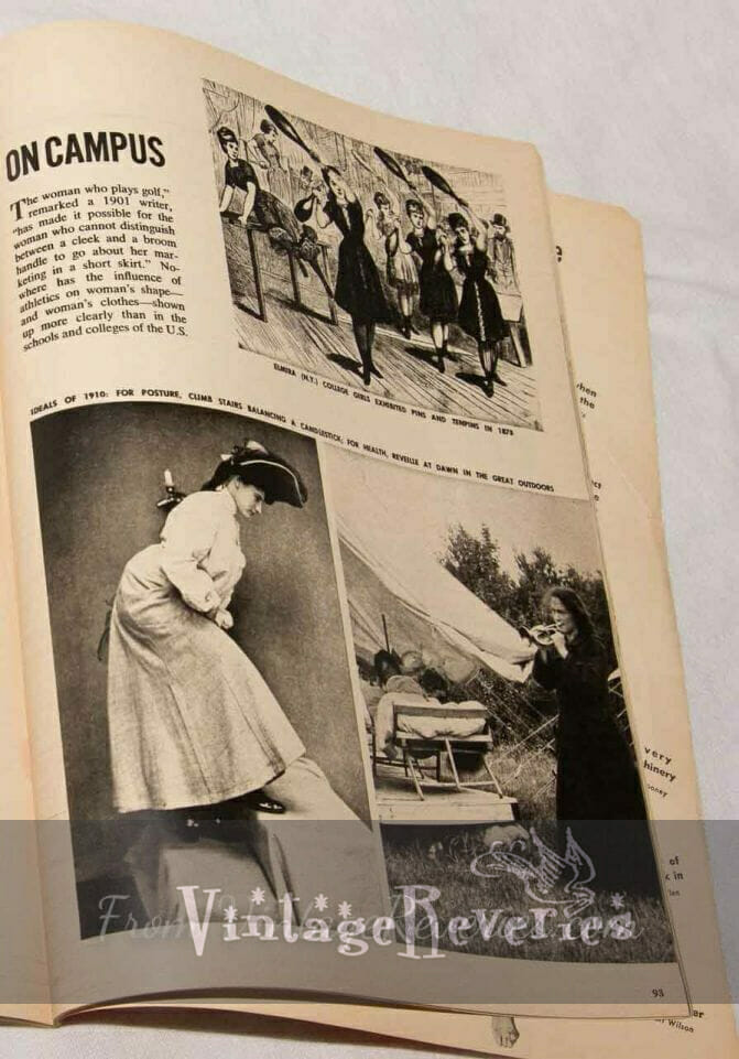 early 1900s exercises for college women