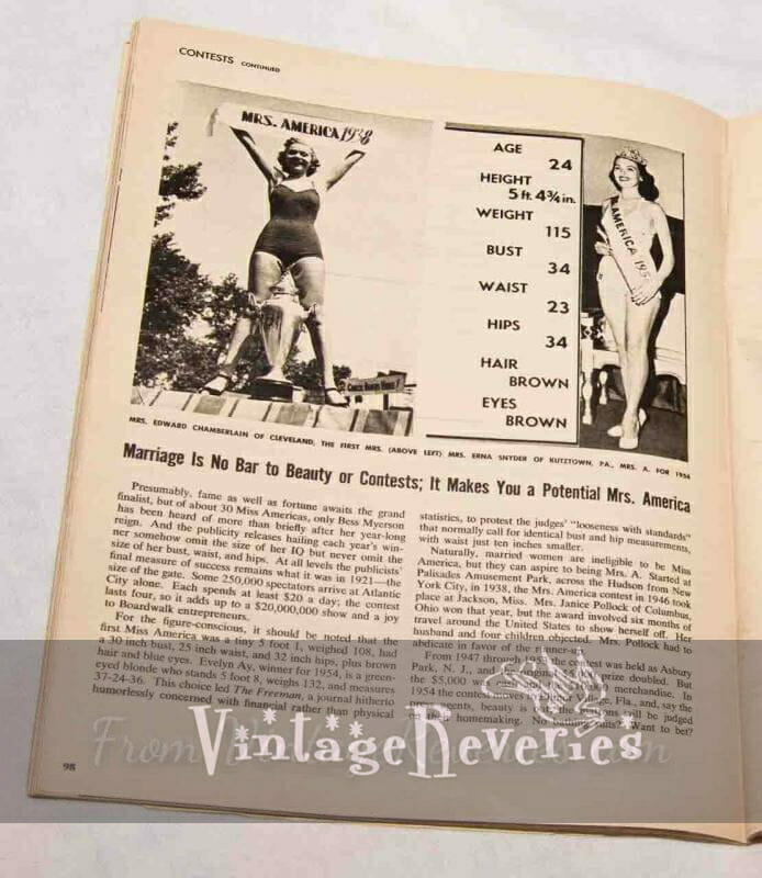 ideal measurements of the 50s