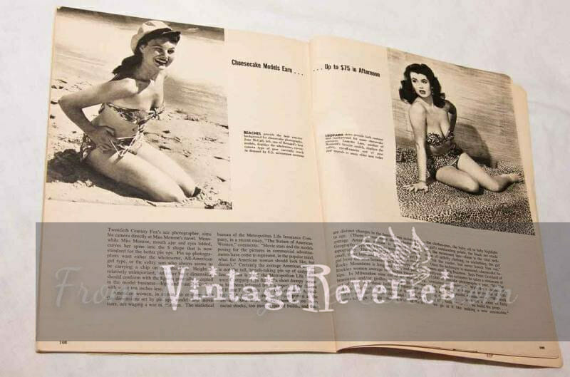 what were models paid in the 1950s