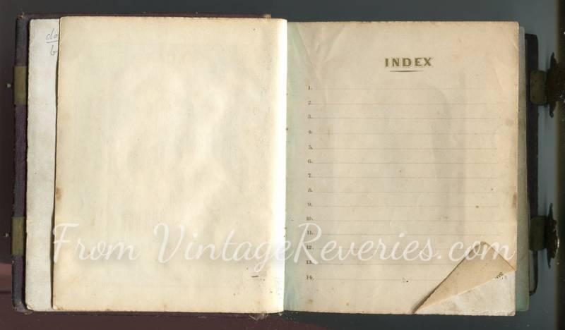 index of photos in a civil war photo album