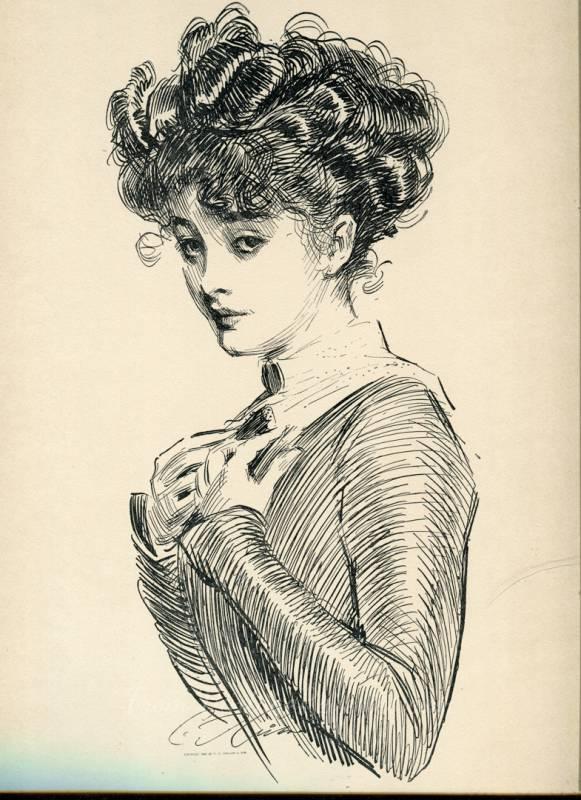 4 Gibson Girl Prints