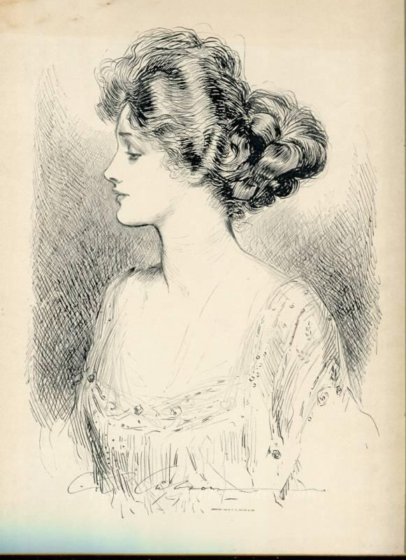 Gibson Girl Portrait Print