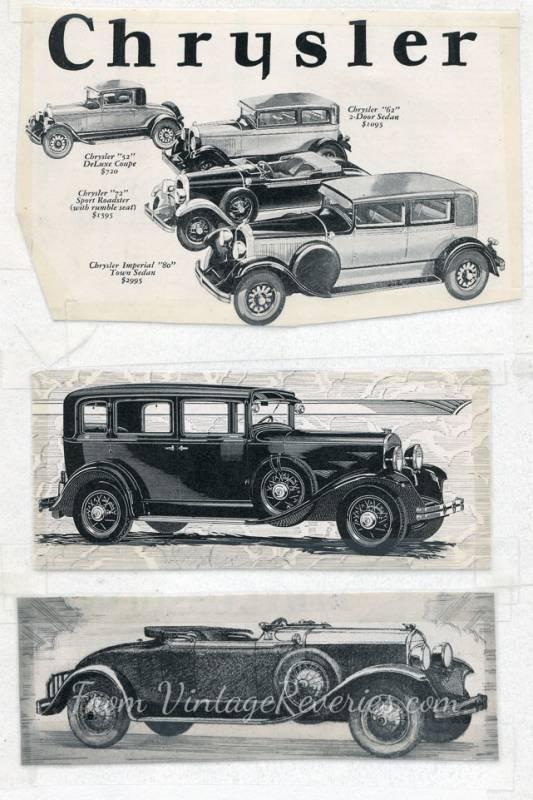 1920s Chrysler ads