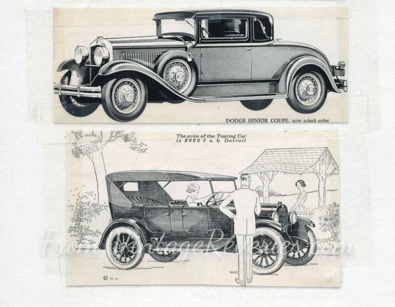 1920s dodge car ads