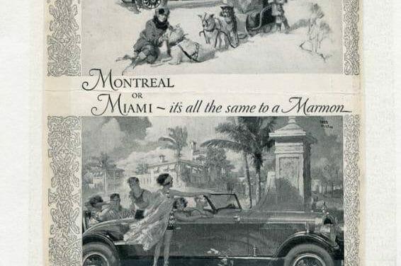 Early Marmon Car Advertisements