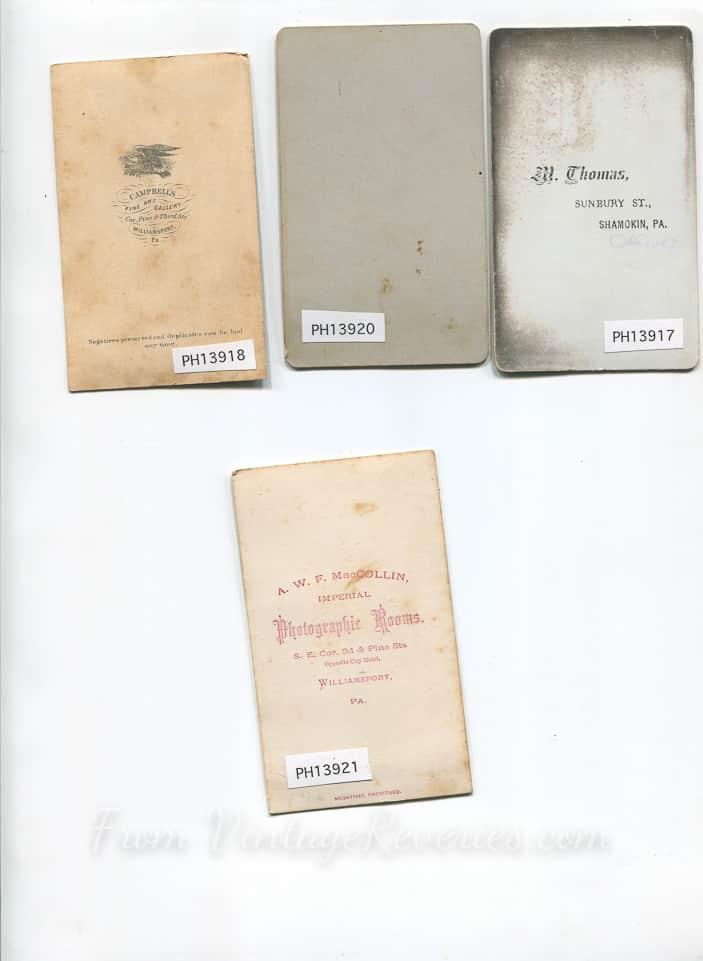 small cabinet card backs