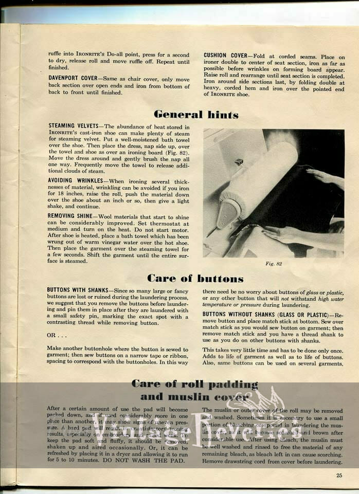 Ironing Hints and Tips