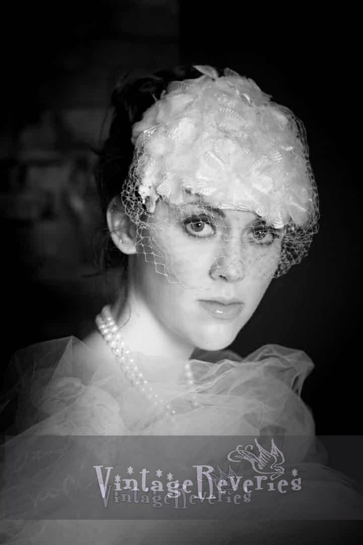 Vintage inspired bridal headshots
