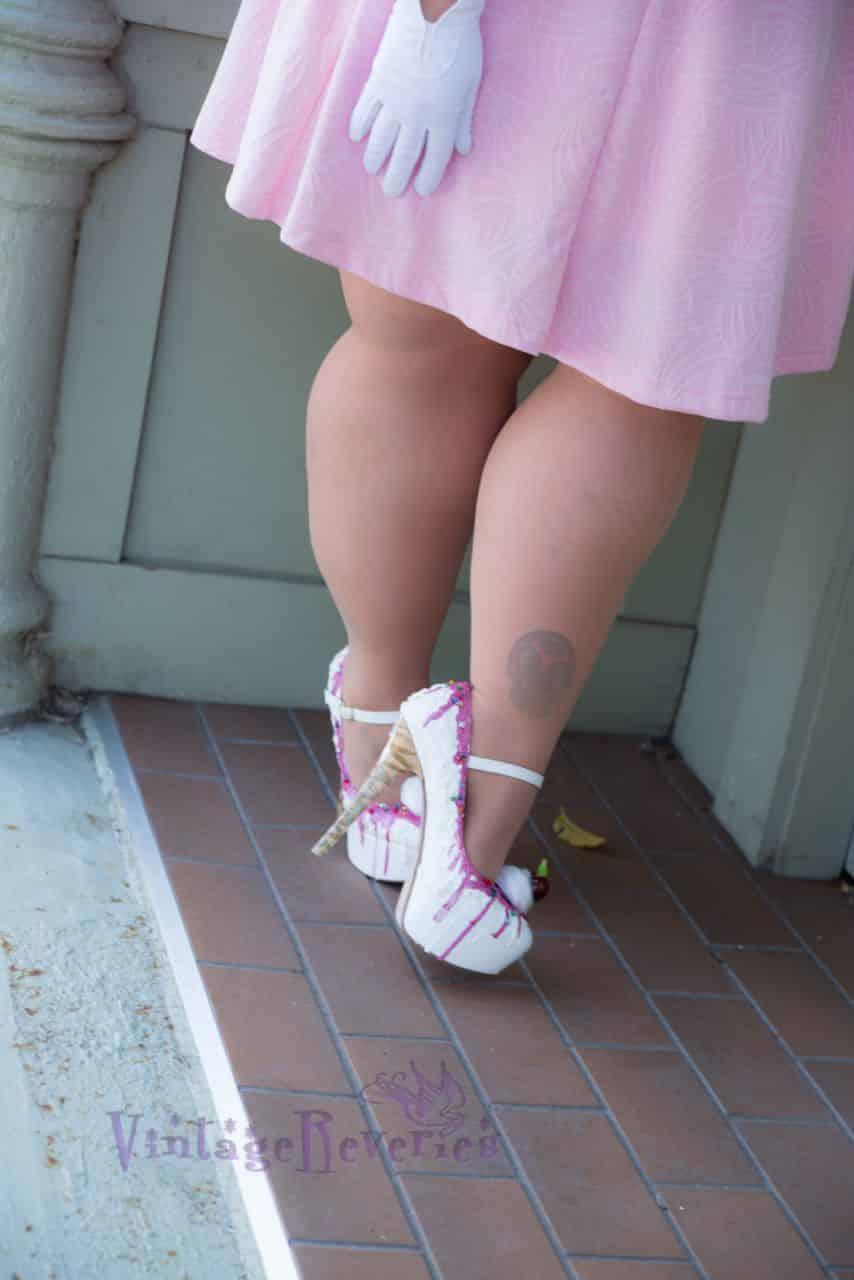 ice cream cone high heels