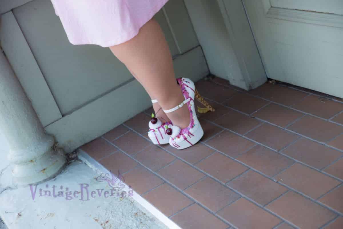 pink ice cream cone high heels