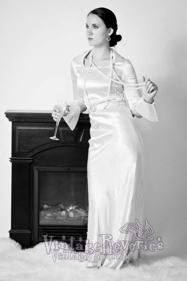 bias cut 1930s dress