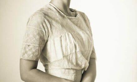 White Edwardian Lace Dress on Andrea
