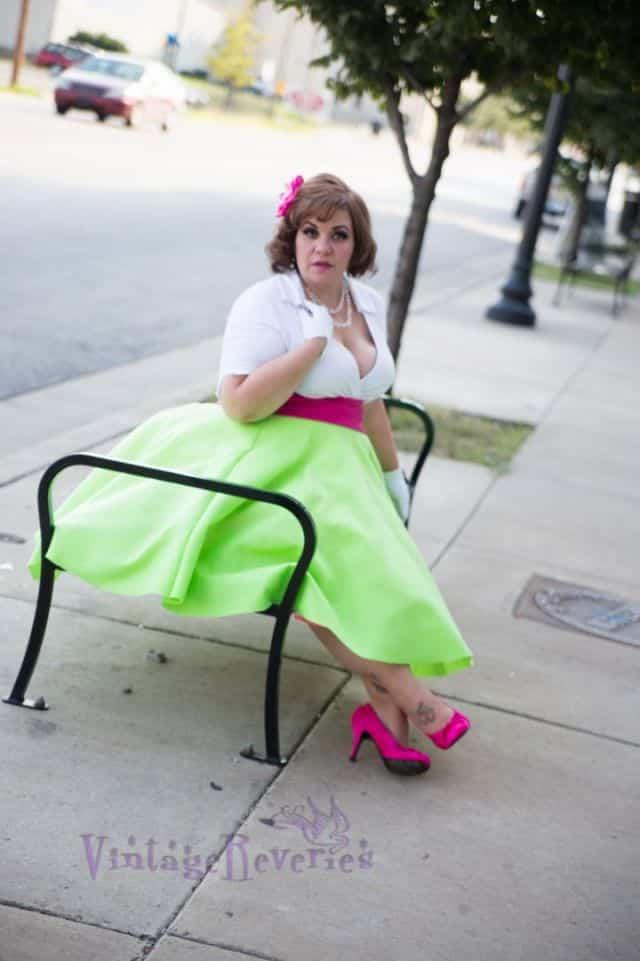 homemade 1950s circle skirt