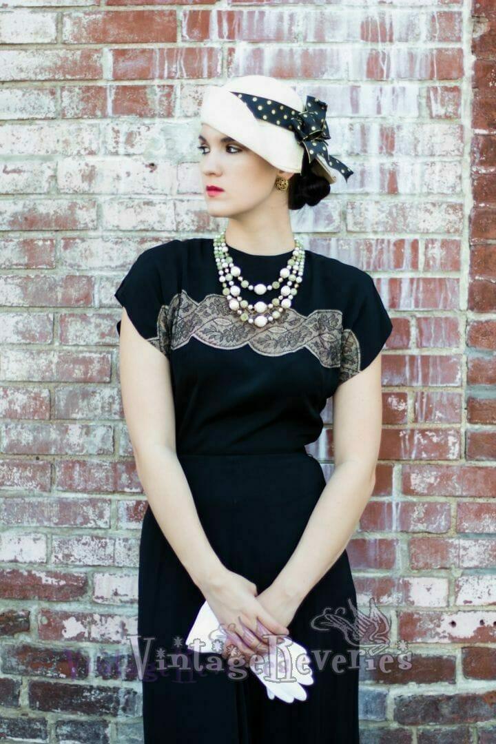 black dress 1930s