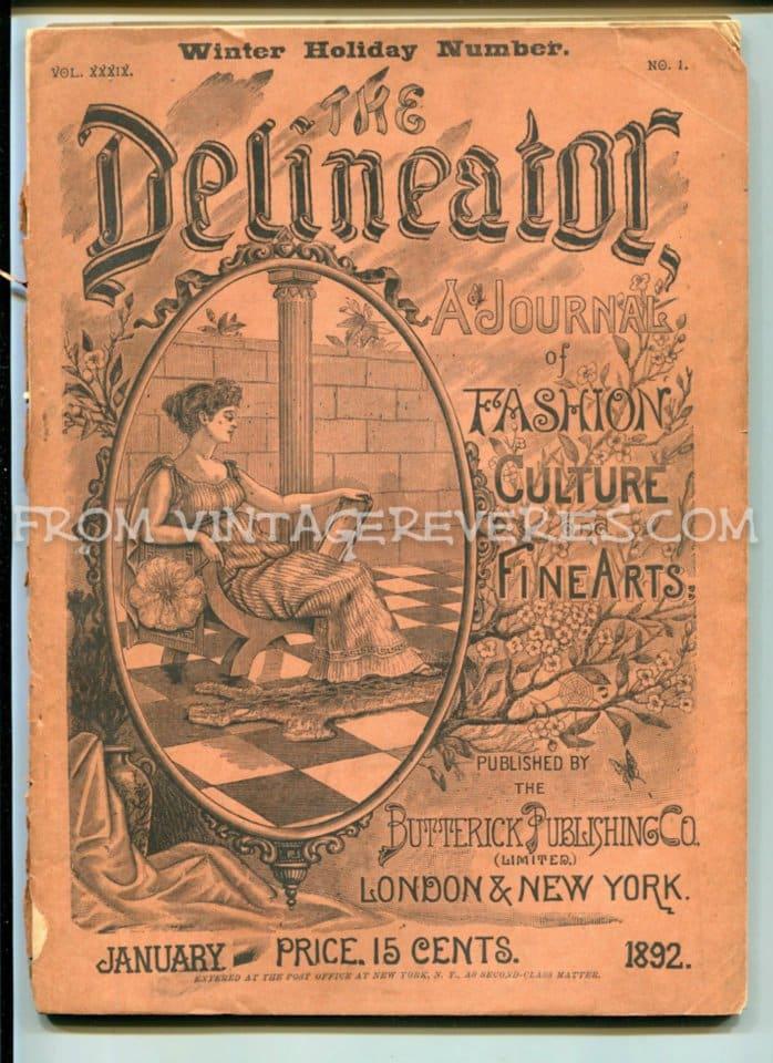 1892 Delineator Fashion Culture Fine Arts Magazine