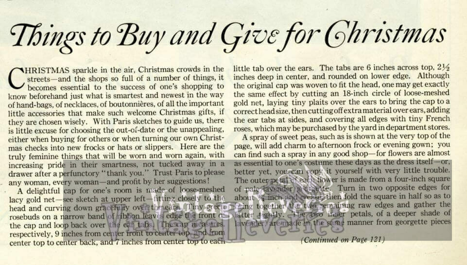 1920s Christmas Gift Buying and Giving Guide
