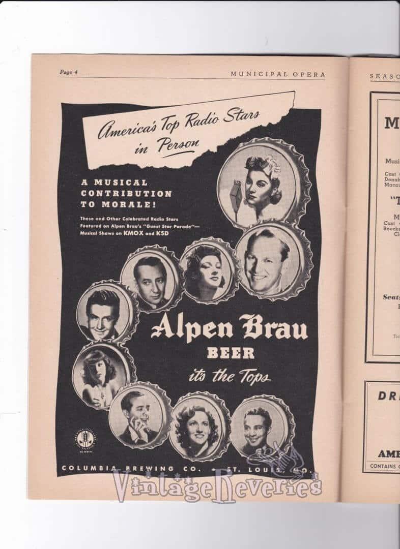 WWII beer advertisement KMOX radio 1943