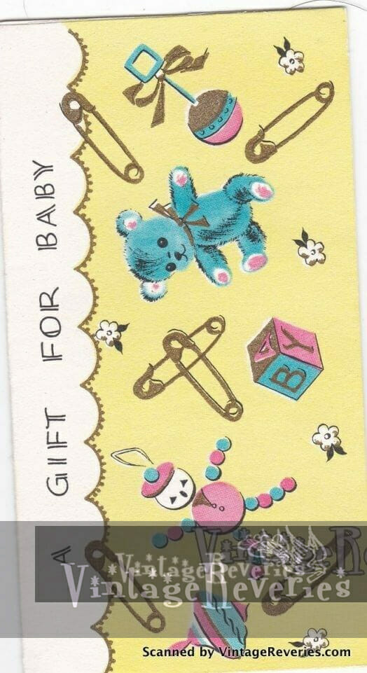 Gift for baby card - unisex