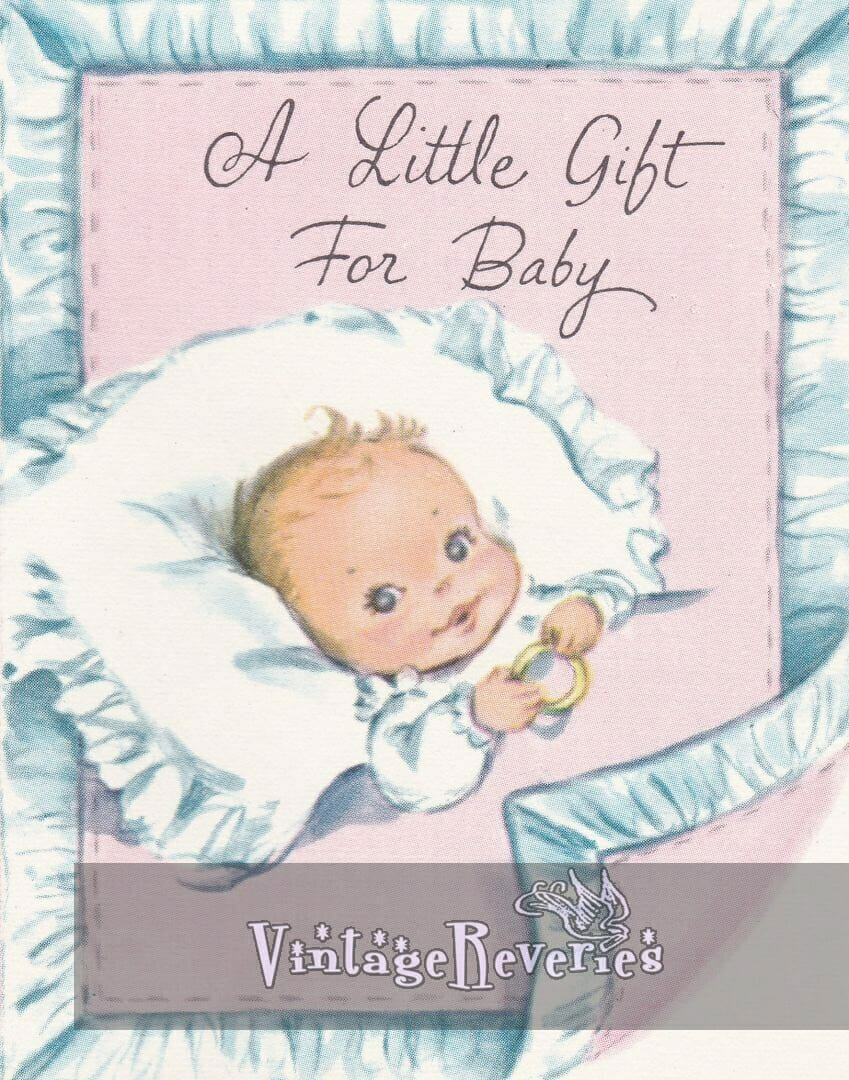 A little gift for baby - baby shower card