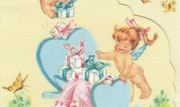 Baby shower card scans from the early 1960s