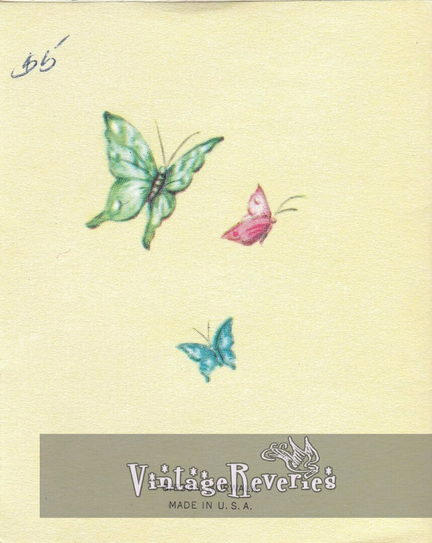butterflies on back of baby shower card